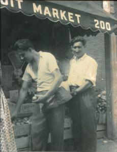 Zoli and his cousin Lesle Zimmerman around 1953